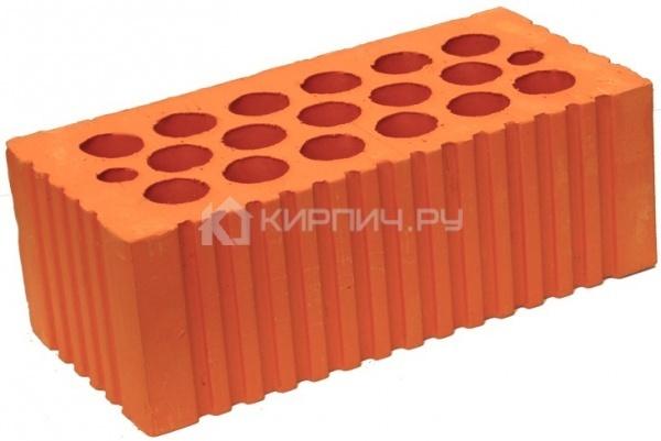 Кирпич строительный полнотелый полуторный М-200 рифленый Каширский кирпич