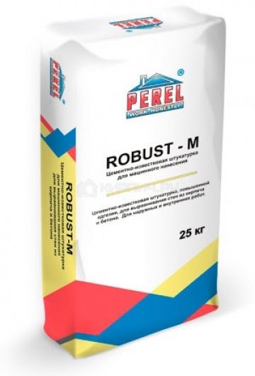 0514 ROBUST-M Штукатурка цементно-известковая Perel 25 кг
