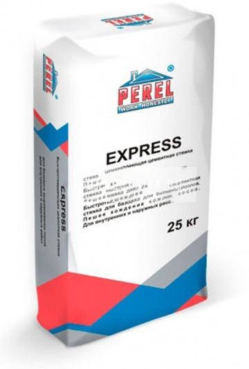 0720 Express Стяжка пола быстротвердеющая цементная PEREL 25 кг