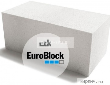 Блок газобетонный Д500 600х250х300 Euroblock