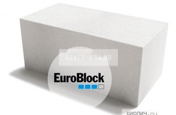 Блок газосиликатный Д400 600х300х400 Euroblock