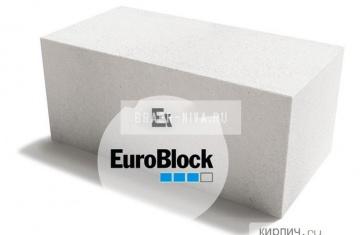 Блок газосиликатный Д600 600х400х100 Euroblock