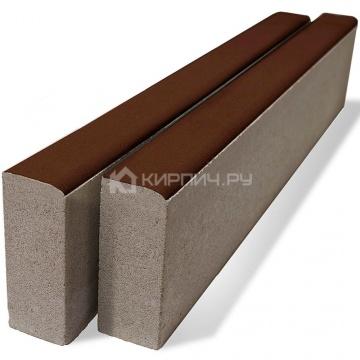 Бордюр тротуарный БР1000х200х80 коричневый