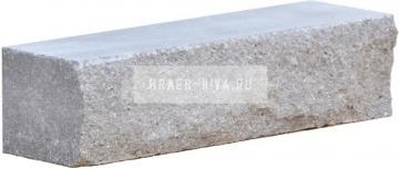 Кирпич гиперпрессованный брусок М-250 серый рустированный ложок