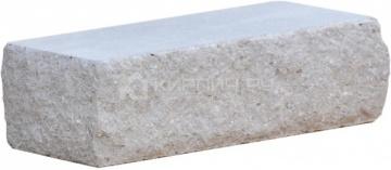 Кирпич гиперпрессованный брусок М-250 серый рустированный угол