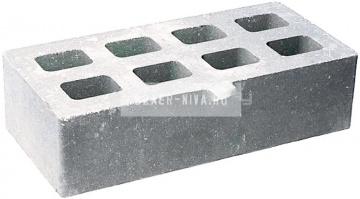 Кирпич гиперпрессованный пустотелый одинарный М-250 серый гладкий