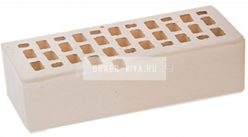 Кирпич облицовочный белый одинарный гладкий М-150 ЛСР
