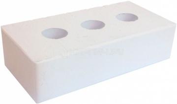 Кирпич облицовочный белый одинарный полнотелый гладкий М-300 ЖКЗ