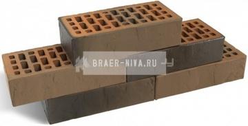 Кирпич облицовочный Браер кладка Грифель одинарный Терра М-150 Браер