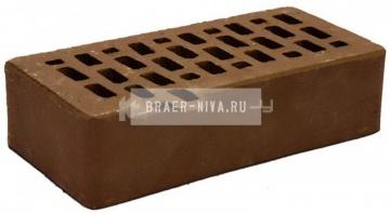 Кирпич облицовочный какао одинарный гладкий М-150 Терекс