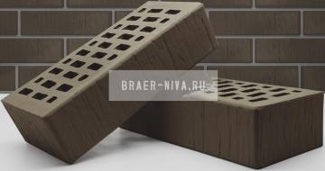 Кирпич облицовочный какао одинарный шале М-150 Терекс