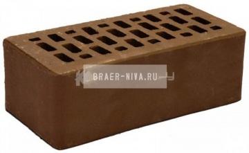 Кирпич облицовочный какао полуторный гладкий М-150 Терекс
