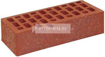 Кирпич облицовочный красный одинарный лава с песком М-200 ВКЗ