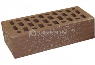 Кирпич облицовочный мокко одинарный рустик с песком М-150 Терекс