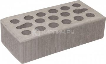 Кирпич облицовочный серебро одинарный бархат М-150 Керма