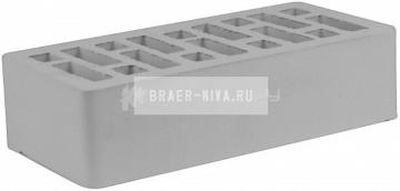 Кирпич облицовочный серый одинарный гладкий М-150 СтОскол