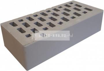 Кирпич облицовочный серый одинарный гладкий М-150 Терекс