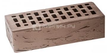 Кирпич облицовочный серый одинарный рустик М-150 ЛСР