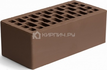 Кирпич облицовочный светло-коричневый полуторный гладкий 150 Браер