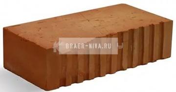 Кирпич строительный полнотелый одинарный М-150 рифленый Каширский кирпич