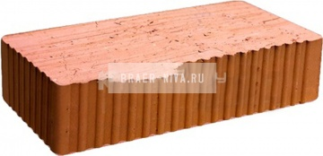 Кирпич строительный полнотелый одинарный М-150 рифленый Великолукский