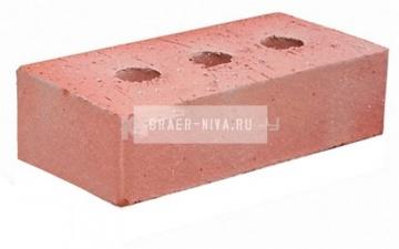 Кирпич строительный полнотелый с тех.пустотами М-200 гладкий Тульский №1