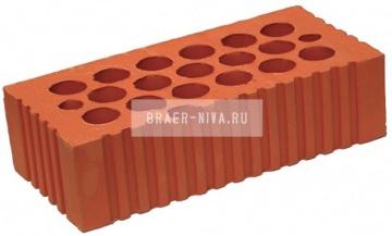 Кирпич строительный щелевой одинарный 150 рифленый Каширский кирпич