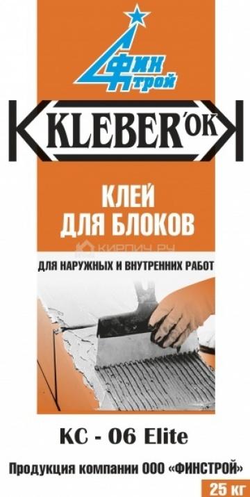 Клей для блоков KLEBERok КC-06 ELITE Финстрой (ПМД -10 С) 25кг
