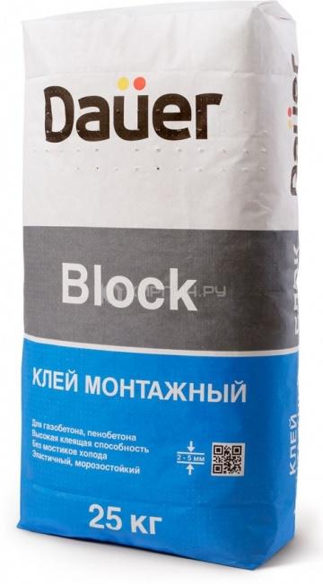 Клей для блоков монтажный тонкошовный Dauer BLOCK (ПМД -10 С) 25 кг