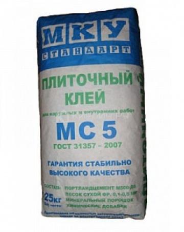 Клей для блоков МС-5 МКУ 25 кг