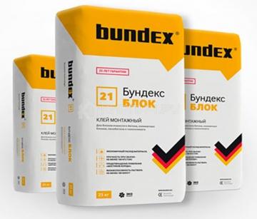 Клей монтажный для блоков Бундекс Блок Bundex, 25 кг