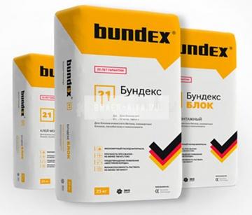 Клей монтажный для блоков Бундекс Блок ЗИМА Bundex, 25 кг