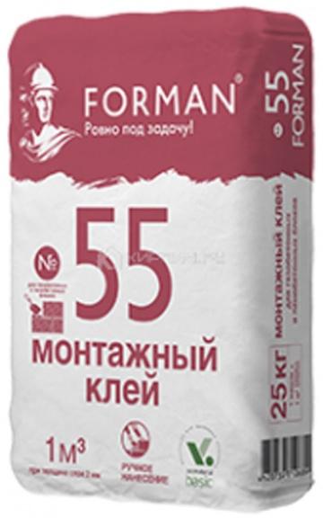 Клей монтажный для блоков FORMAN 55 СГК, 25 кг