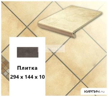 Клинкерная напольная плитка Stroeher KERAPLATTE AERA 722 paglio, 294х144х10