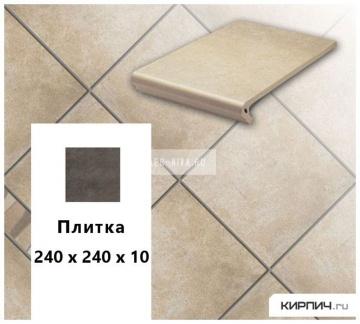 Клинкерная напольная плитка Stroeher KERAPLATTE AERA 725 faveo, 240х240х10