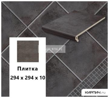 Клинкерная напольная плитка Stroeher KERAPLATTE AERA T 715 tar, 294х294х10