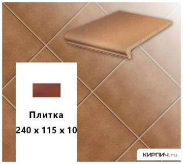 Клинкерная напольная плитка Stroeher KERAPLATTE DURO 804 bossa, 240x115x10
