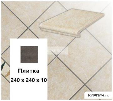 Клинкерная напольная плитка Stroeher KERAPLATTE ROCCIA 833 corda, 240х240х10