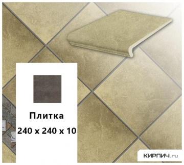 Клинкерная напольная плитка Stroeher KERAPLATTE ROCCIA 835 sandos, 240х240х10