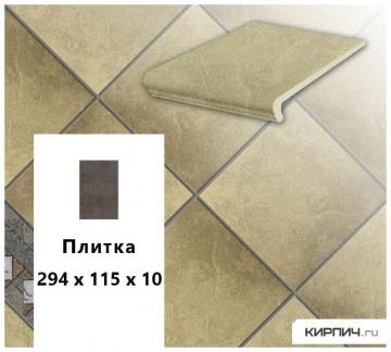 Клинкерная напольная плитка Stroeher KERAPLATTE ROCCIA 835 sandos, 240x115x10