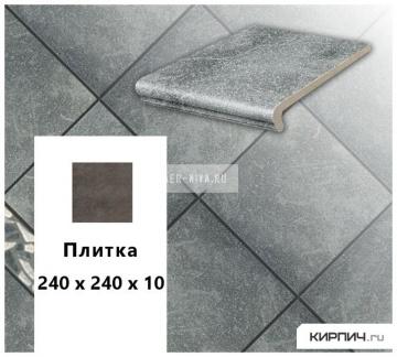 Клинкерная напольная плитка Stroeher KERAPLATTE ROCCIA 840 grigio, 240х240х10