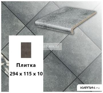 Клинкерная напольная плитка Stroeher KERAPLATTE ROCCIA 840 grigio, 240x115x10