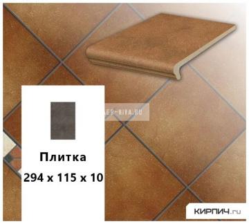 Клинкерная напольная плитка Stroeher KERAPLATTE ROCCIA 841 rosso, 240x115x10