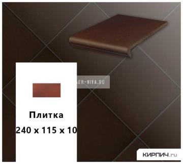 Клинкерная напольная плитка Stroeher KERAPLATTE TERRA 210 braun, 240x115x10