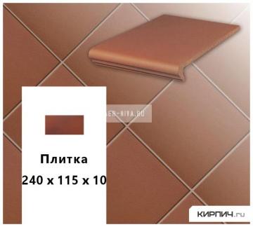 Клинкерная напольная плитка Stroeher KERAPLATTE TERRA 215 patrizierrot, 240x115x10