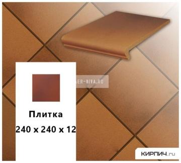 Клинкерная напольная плитка Stroeher KERAPLATTE TERRA 313 herbsfarben, 240х240х12