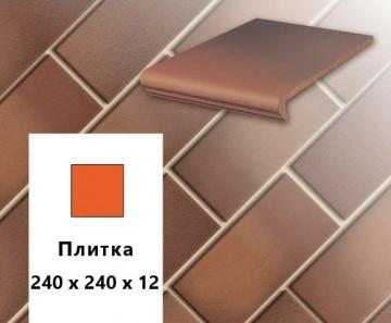 Клинкерная напольная плитка Stroher CLASSICS E 345 naturrot bunt, 240х240х12