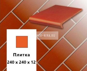 Клинкерная напольная плитка Stroher EURAMIC CLASSICS E 361 naturrot , 240х240х12