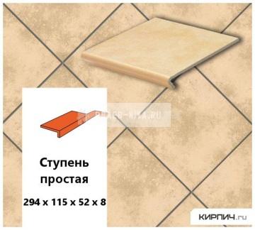Клинкерная ступень прямоугольная Euramic CAVAR E 541 facello, 294х115х52х8