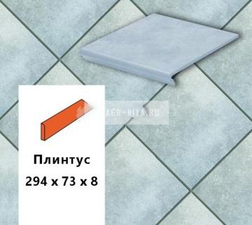 Клинкерная ступень прямоугольная Euramic CAVAR E 544 chiaro, 294х115х52х8